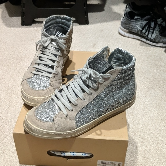 P448 Shoes | P448 Silver Glitter High